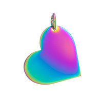 Heart Rainbow Stamping Blank With Jump Ring - Select Size
