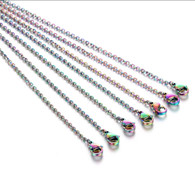 Rainbow Stainless Steel Necklace 17""