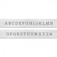 Basic Typewriter Economy Uppercase Metal Stamp Set  3mm - ImpressArt
