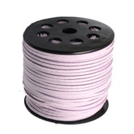 Blush Pink Faux Suede Cord 3x1.5mm - 1Mtr