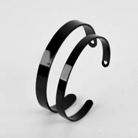 Black Stainless Steel Cuff 150x6mm