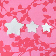 Kawaii Star w/HOLE Aluminium Stamping Tag Blank - 2mm - Select Size