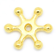 100PCs Gold Plated Snowflake Spacer Beads 12x11mm