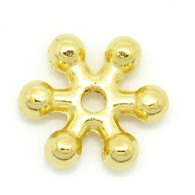 100PCs Gold Plated Snowflake Spacer Beads 7x8mm