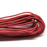 Red Round Waxed Jewellery Cord 2mm