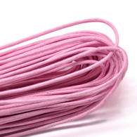 Pink Round Waxed Jewellery Cord 2mm