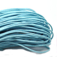 Blue Round Waxed Jewellery Cord 2mm