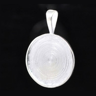 Silver Plated Round Cameo Cabochon Setting - Fit 25mm