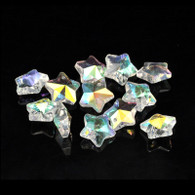 Star Clear AB Crystal Glass Faceted Bead Charms