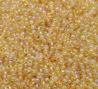 Yellow AB - 15g Czech Glass Seed Beads Size 3mm 8/0