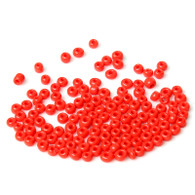 Scarlet Red  - 15g Ceramic Glass Seed Beads Size 3mm 8/0