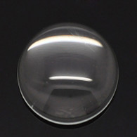 18mm Round Clear Glass Cabochon Dome