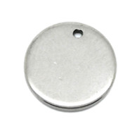 Pack of 10 Stainless Steel Round Blank Stamping Tags Pendants 10mm