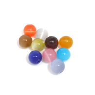 Pack of 25 Cats Eyes Mixed Colour Beads 8mm