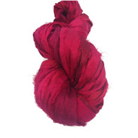 Silk Sari Ribbon Fair Trade - Red