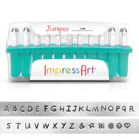 IMPRESSART - Juniper Uppercase Metal Stamp Set 3mm