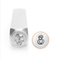 IMPRESSART - Diamond Ring Metal Stamp - 6mm