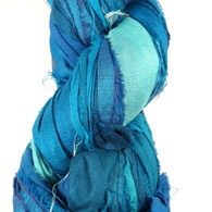 Silk Sari Ribbon Fair Trade - Sky Blue