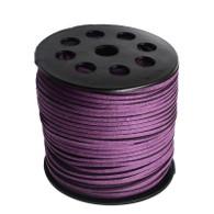 Faux Suede Cord 3x1.5mm - Purple