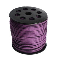 Faux Suede Cord 3x1.5mm - Purple