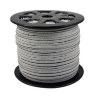 Faux Suede Cord 3x1.5mm - Grey