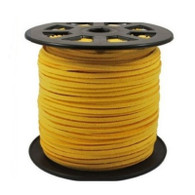 Faux Suede Cord 3x1.5mm - Yellow