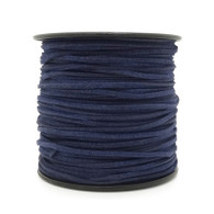 Faux Suede Cord 3x1.5mm - Midnight Blue
