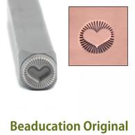 Beaducation Radiant Heart  Design Stamp 5.5mm