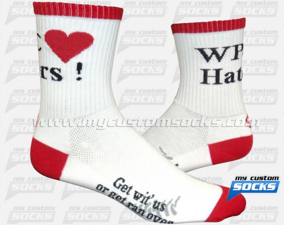 Custom WPC Haters Socks