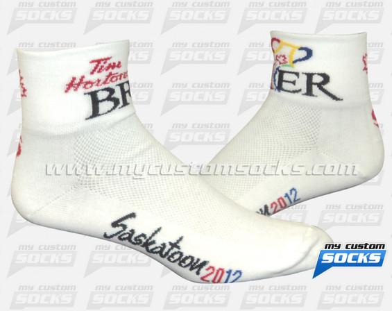 Custom Tim Hortons White Socks