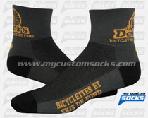 Custom Demers Bicycle Socks (Yellow)