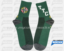 Custom University of Maryiland Light Green Socks