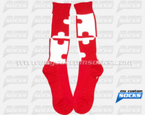 Custom Maryland Fencing Club Red Socks