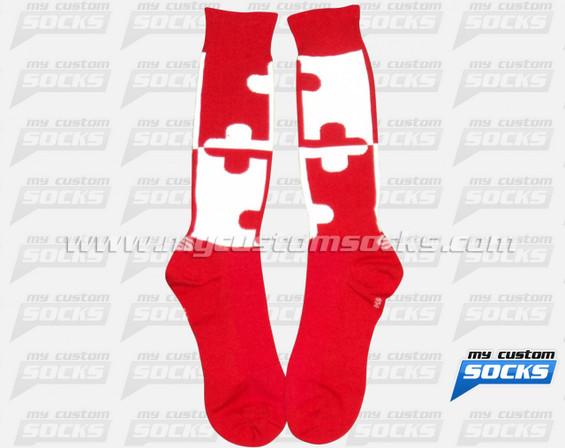Custom Maryland Fencing Club Red Socks