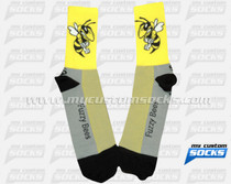 Custom Fuzzy Bees Wrestling Socks
