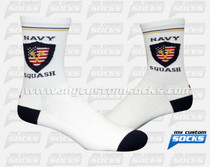 Custom Navy Squash Seals Socks
