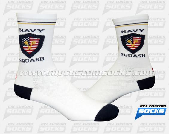 Custom Navy Squash Seals Socks
