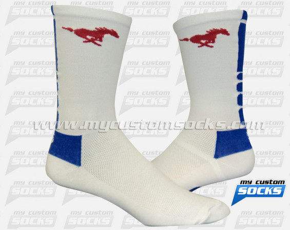 Custom Mustangs Football Team Socks