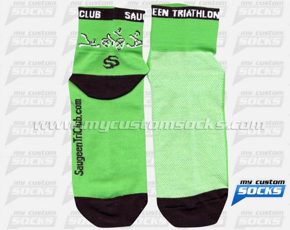 Custom Saugeen Triathlon Club Socks
