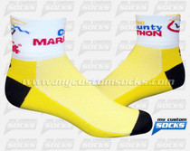 Custom The County Marathon Yellow Socks