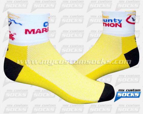 Custom The County Marathon Yellow Socks