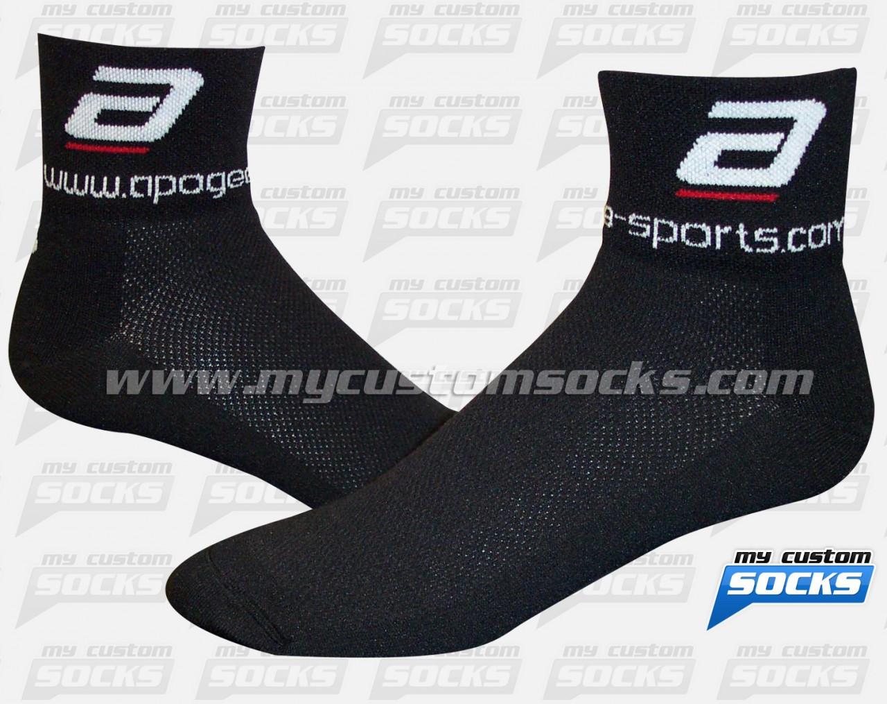 6c8685108 Custom Apogee - Black Socks. Loading zoom