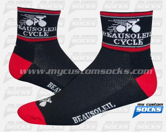 Custom Beausoleil Cycle Socks
