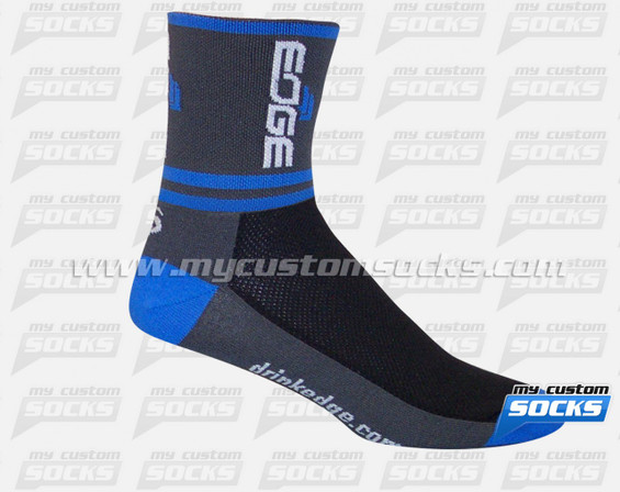 Custom EDGE Sports Nutrition Gray Socks