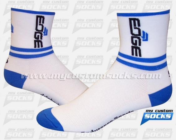 Custom EDGE Sports Nutrition White Socks