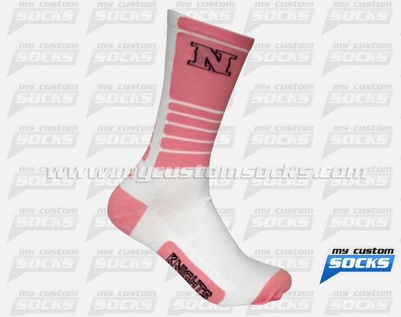 Custom Elite Socks: Nordonia Hills School Team - White Socks