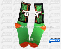 Custom Socks: Monster Up (Green)