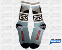 Custom Socks: 253 Revolushon (Blue)