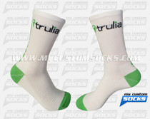 "Custom Socks: Trulia - 5"" Crew socks"