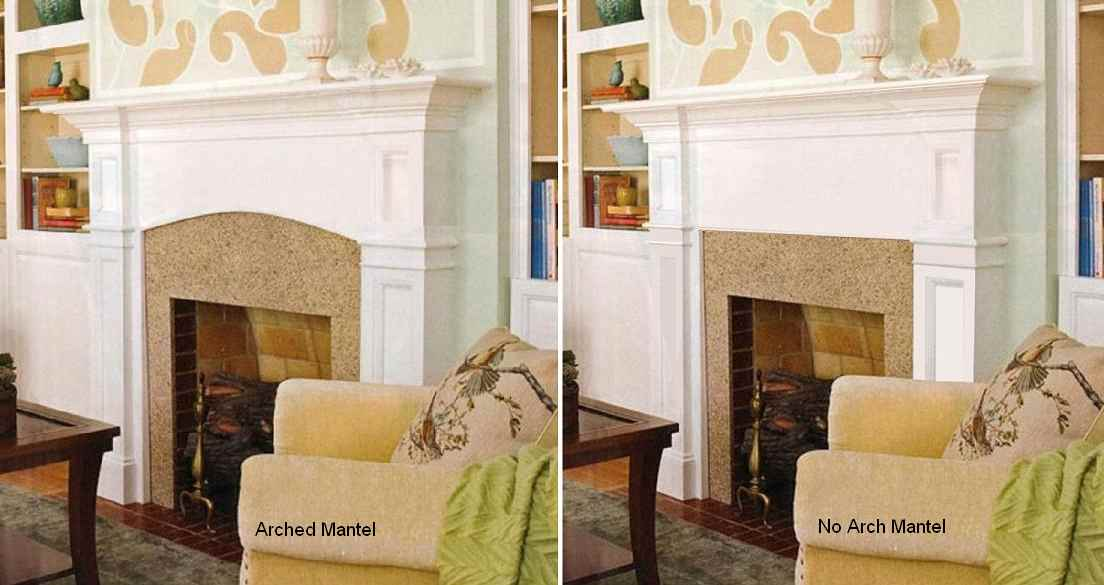 Hanford Mantel with and without Arch